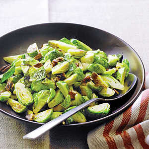 Sautéed Brussels Sprouts with PecansRecipe