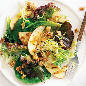 Fall Green Salad with Apples, Nuts, and Pain d'Epice DressingRecipe