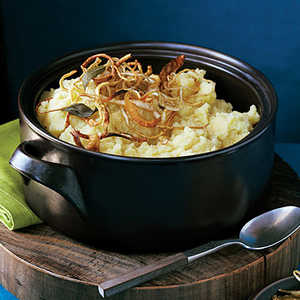 Mashed Potatoes and Parsnips with Crisp Root Vegetable StripsRecipe