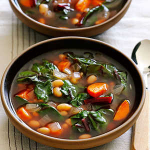 Ruby Swiss Chard and White Bean Soup Recipe