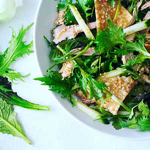 Sesame Chinese Chicken Salad with Asian GreensRecipe