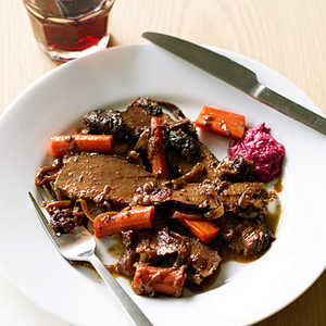 Red Wine and Onion-Braised Passover Brisket Recipe