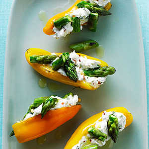Mini Peppers Filled with Goat Cheese and Asparagus Recipe