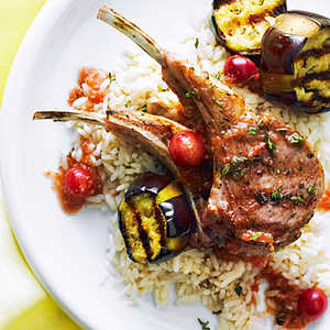 Grilled Lamb Chops with Turkish Grape SauceRecipe
