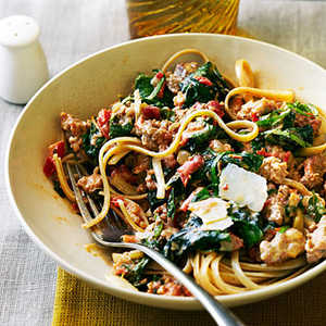 Spicy Sausage and Chard PastaRecipe