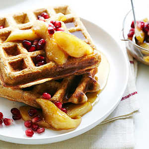 Whole-Wheat Waffles with Spiced Fall FruitRecipe