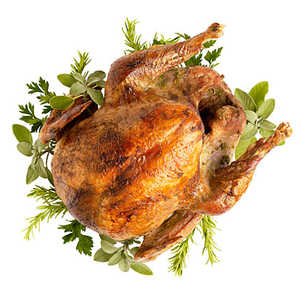 Grill-Roasted Turkey with Herb Mustard Butter Recipe