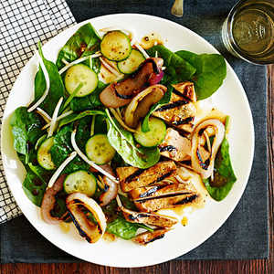 Chinese Black Pepper Pork and Spinach SaladRecipe