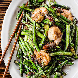 Asparagus Shrimp Stir-Fry Recipe