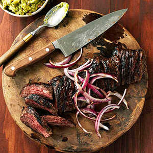 Carne Asada con Mojo (Grilled Beef with Sour Orange Marinade) Recipe