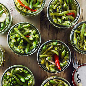 Ginger and Chile Pickled Green BeansRecipe