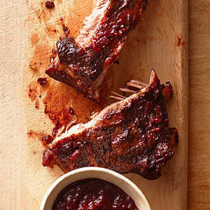 Smoked Ribs with Huckleberry BBQ SauceRecipe