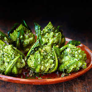 Broccoli Romanesco with Green Herb SauceRecipe