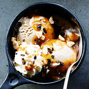 Coffee Sundaes with Salted Peanut Butter CaramelRecipe