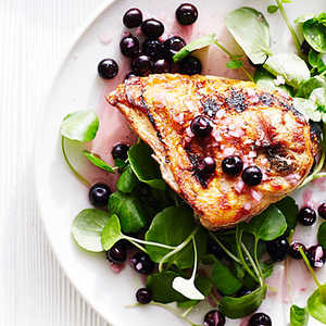 Grilled Chicken with Pickled BlueberriesRecipe