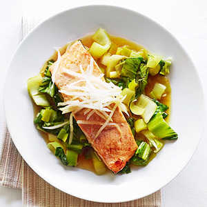 Salmon with Citrus-Soy Sauce and Bok ChoyRecipe