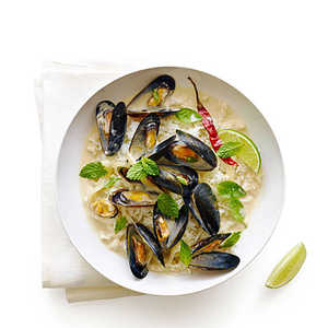 Thai-Style Mussels with HerbsRecipe