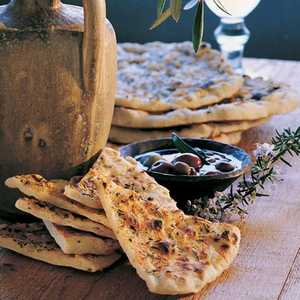 Grilled Rosemary FlatbreadsRecipe