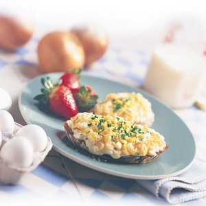 Golden Onions and Eggs on ToastRecipe