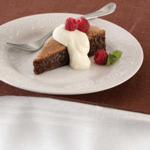 Flourless Chocolate Cake with Chocolate MousseRecipe