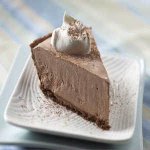 Frozen Lite Chocolate Cheesecake PieRecipe