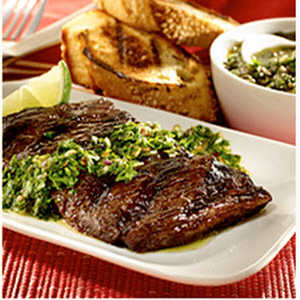 Grilled Skirt Steak with Chimichurri Sauce Recipe
