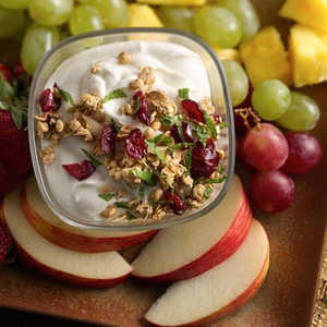 Crunchy Cranberry Almond Greek Yogurt Fruit Dip Recipe