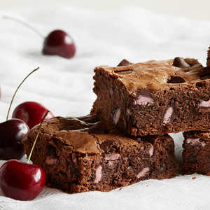 Dark Chocolate Brownies with Cherry Flavored Filled DelightFulls Recipe