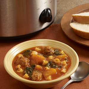 Slow Cooker Butternut Squash Soup with SausageRecipe
