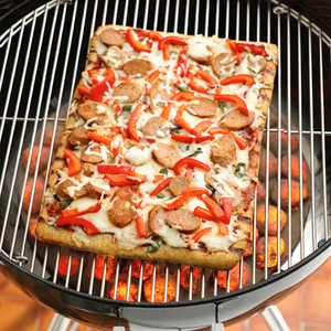 Grilled Turkey Sausage Pepper Pizza
