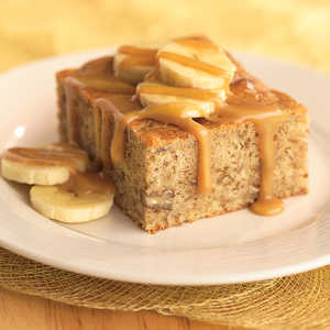 Banana Caramel Cake Recipe
