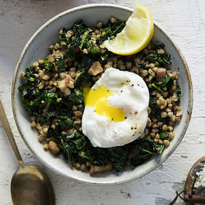 Kasha with Kale and Pancetta Recipe