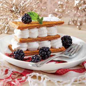 Layered Eggnog Cream with Puff PastryRecipe