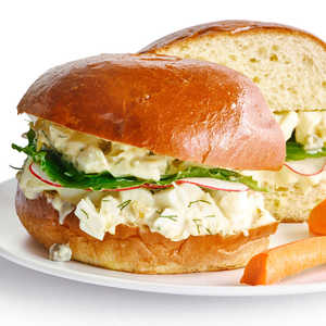 Lemony Egg Salad Sandwiches with Capers and DillRecipe