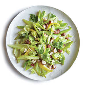 Lemony Braised Celery with Hazelnuts Recipe