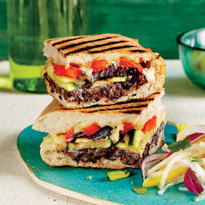 Mexican-Style Grilled Vegetable SandwichRecipe