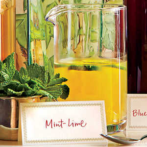 Mint-Lime Champagne Punch Recipe