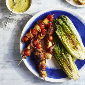 <p>BLT Skewers with Lemon-Chive Aioli</p>