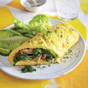 Mushroom and Spinach Omelet Recipe
