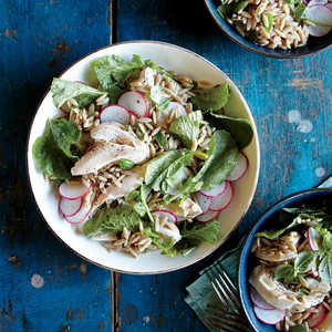 Orzo Salad with Chicken and RadishesRecipe