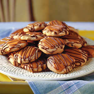Peanut Butter-Toffee Turtle CookiesRecipe
