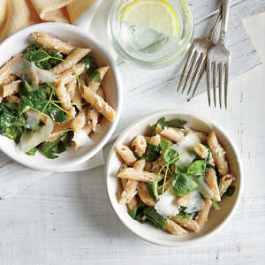 Penne with Ricotta and GreensRecipe