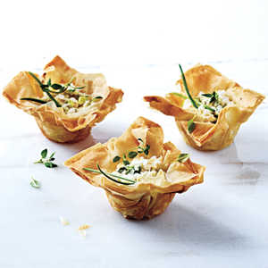 Phyllo Cups with Ricotta, Chèvre, and ThymeRecipe