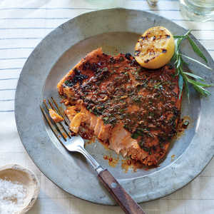 Pink Salmon with Smoky Herb RubRecipe