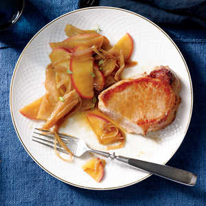 Pork Loin Chops with Apple and ShallotRecipe