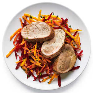 Pork Tenderloin with Crunchy Beet SlawRecipe