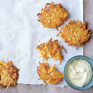 Potato and Carrot Pancakes with Curry Sauce Recipe