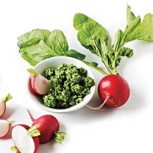 Radishes with Iceberg and Herb ButterRecipe