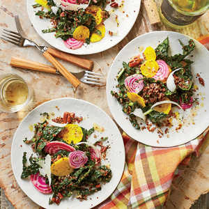 Red Quinoa Salad with Beets, Kale, and ParmesanRecipe