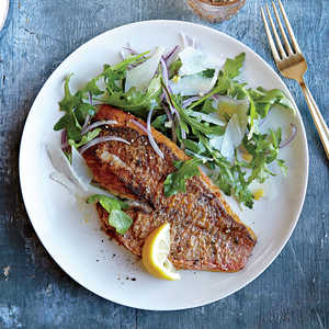 Red Snapper with Arugula SaladRecipe